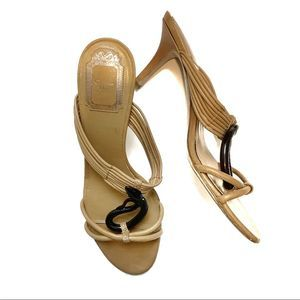 Christian Dior Tan Strappy Open toe heels sandals